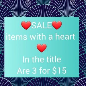 SALE bundle 3 items with ❤ for $15